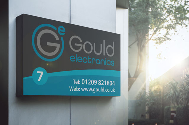 Gould building sign